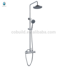 KWM-10 economic multifunctional bathroom solid brass single handle thermostatic with slide bar rainfall shower head set