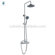 KWM-10 экономических многофункциональный ванная комната твердой латуни одной ручкой термостатический с баром слайд тропическим душем набор