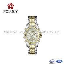 Les cristaux de cadran romain de quartz carré de mode décorer la montre lumineuse de femmes d'horloge