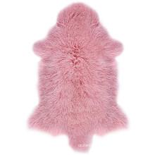 Real Genuine long fur rug tibetan lamb mongolian sheepskin lambskin fur hide pelt