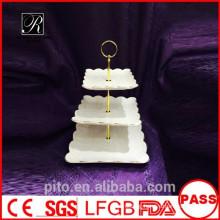 P&T ceramics factory,porcelain high tea cake stands, wedding cake stands