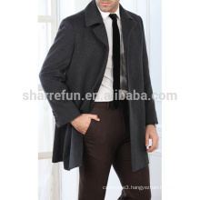 New Fashion Men's 100% Wool Overcoat With Factory Price