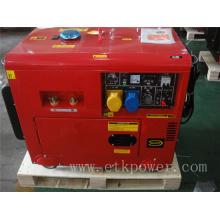 4.6kw / 50Hz silenciador soldador diesel generador conjunto