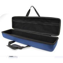 factory hard case waterproof zip case, plastic hard carrying case with foam insert