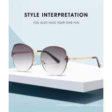 2020 Luxury Hot Seller Round Cateye Metal Sunglasses