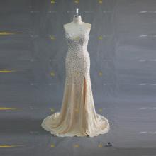 ED Bridal Sexy Sweetheart Neckline Crystal Beaded Split Side Mermaid Zipper Women Evening Dress 2017
