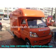 China ChangAn mini camión móvil de la tienda de la pizza van / camión de la comida rápida para la venta
