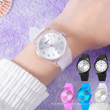 SKMEI 1760 Stylish Quartz Watches sr626sw Transparent Silicone Strap for Girls Watches
