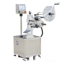 Automatic top flat labeling machine without conveyor