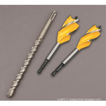 Outil de forage en bois pour le travail des métaux 4 cannelures OEM de haute qualité