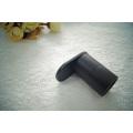 Crochet de peignoir de salle de bains de crochet d'acier inoxydable durable de noir de minimalisme