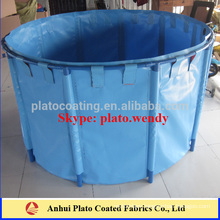 1200gsm vinyl pvc coated tarpaulin fabric used for making fish pond