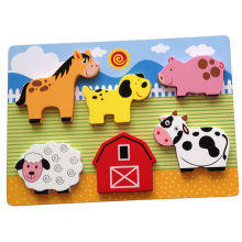 Educational Wooden Puzzle Chunky Puzzle (34770)