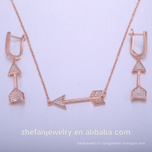 bijoux ensemble africain rose plaqué or pour les femmes bijoux fantaisie