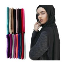 Venta caliente al por mayor mujeres musulmanas cabeza chal bufanda premium algodón elástico jersey hijab