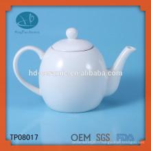 Pot de thé en porcelaine blanche, théière en céramique pour restaurant, LFGB, FDA, CIQ, CE, SGS Certification et Eco-Friendly Feature Pot de thé en céramique