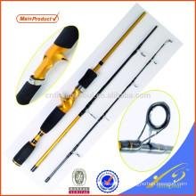 Caña de pescar barata de China de la barra de viaje TVR010-6 en 3 secciones Caña de pescar de la fibra de carbono