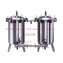 Продовольственный сорт Нержавеющая сталь Санитарный двойной дуплексный фильтр