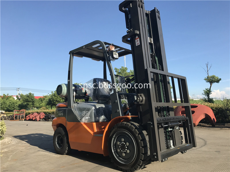 3.5ton gas forklift to Argentina from sheri02