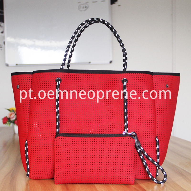 Red beach bag
