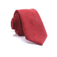 Mens Custom Herringbone Twill Seide gemischt rot gelb Wolle Krawatten