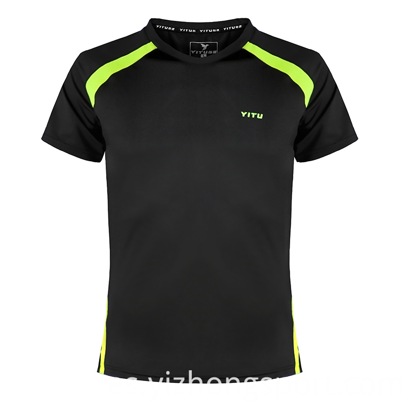 Fitness T Shirt Polyester Black