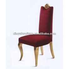 Silla de comedor de tela roja XYD034