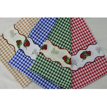 2015 New Printed Plaid Minimat Ployester Fabric for Table Fabric