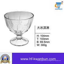 Limpar o sorvete de vidro tigelas de vidro bom preço de utensílios de mesa Kb-hn0141