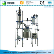 TST-150MS 150L Single-deck glass chemical reactor with stainless steel supporting frame
