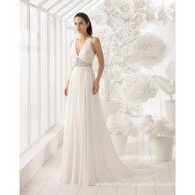 Hot Sale V Neck Beading Chiffon Wedding Dress Bridal Gown (RS019)