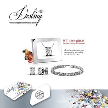 Destiny Jewellery Crystal From Swarovski Snails Set Bracelet Pendant and Earrings