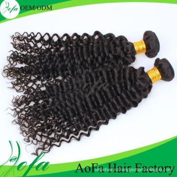 7А класс глубокая волна девственница монгольский человеческих волос