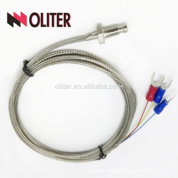 high accuracy pt100 resistance fixing thread flexible insulated ss sheathed braid cables platinum wire manufacturer rtd