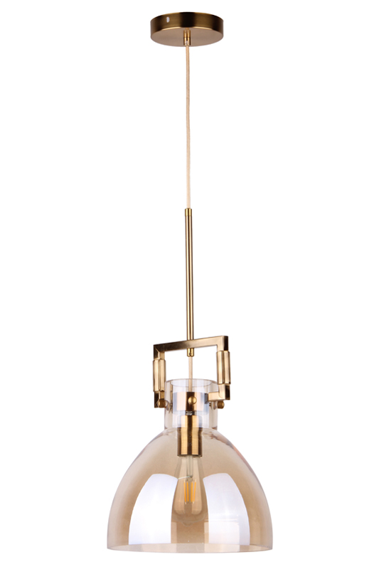 Pendant Amber Glass Lamp
