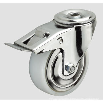 5inch Industrial Caster Nylon Caster with Side Brake