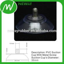Taza de succión de PVC de alta calidad de 30 mm con tornillo de metal