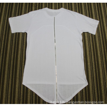 Hip Hop verlängern T-Shirt Schwarzes rotes weißes Baumwollt-shirt