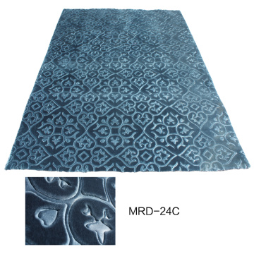 Tapis de conception en relief en polyester