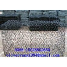 8x10 pvc galvanizado recubierto hexagonal caja de piedra jaula jaula de canasta de malla para pavimentos o caída de rocas