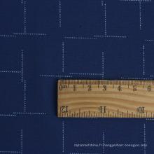 Tissu de chemise d'homme de tissu de microfibre d'impression Sedate élégant