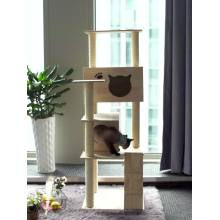 Moda Diy Pet Cat House Escalada Torre Árvore