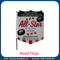 Custom Hand Waving Flags med Solid Flagpole