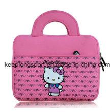 Housse pour ordinateur portable en néoprène rose à la mode avec Hello Kitty Logo