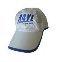 Nylon mujer corriendo gorra deportiva con banda elástica