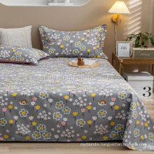 Home Textile Sheet Set Cheap Price Hypoallergenic Gray Floral King Bed Linen