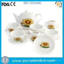 Juego de té japonés de porcelana Gracce Sunflowers Design