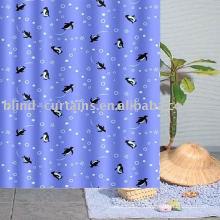 Penguin shower curtain