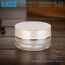 Cilindro de camadas duplas material acrílico de pmma importado YJ-A15 15g rodada boa qualidade 15ml frasco plástico