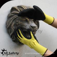 SRSAFETY foam latex glove worker glove